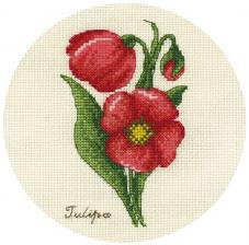 Панна | Букетик тюльпанов. Размер - 13 х 17 см