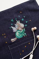 "Абрис Арт | Вышивка на одежде ""В пижамке"". Размер - 8,5 х 9 см"