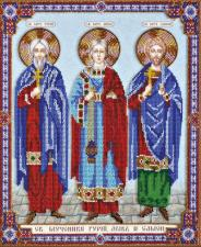 Абрис Арт | Святые мученики Гурий,Авив и Самон. Размер - 32 х 36,5 см