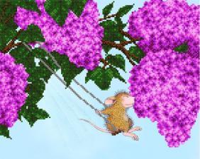 А-строчка | Хвостатые качели. Размер - 32 х 26 см