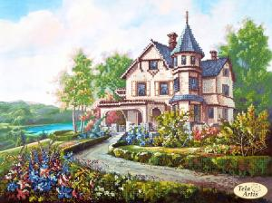 Тэла Артис   Домик мечты.Миниатюрный замок. Размер - 32 х 24 см