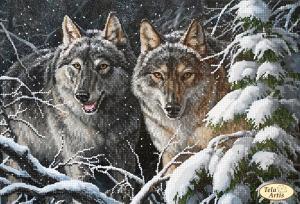 Тэла Артис | В зимнем лесу. Размер - 35 х 24 см