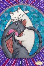 Тэла Артис | Кошачий лямур. Размер - 24 х 36 см