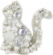 """Набор для изготовления броши Crystal Art """"Котик"""". Размер - 6 х 6 см"""