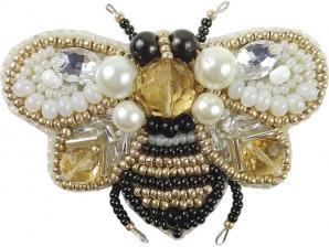 """Набор для изготовления броши Crystal Art """"Пчёлка"""". Размер - 6,5 х 5,5 см"""