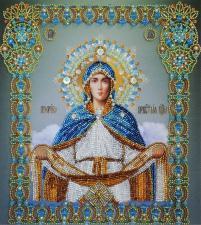 Картины бисером | Покров Пресвятой Богородицы. Размер - 25 х 28 см