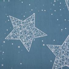 Ткань сатин Звезды, 120г/м², 100% хлопок, шир.220см, цв.серый