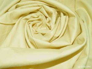 Ткань сатин гладкокрашеный, 120г/м², 100% хлопок, шир.220см, цв.нежно-жёлтый уп.3м