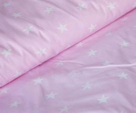 Ткань хлопок Звёздочки, 125г/м², 100% хлопок, шир. 150см, цв.02 розовый уп.3м