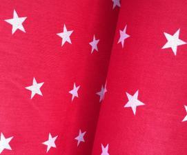Ткань хлопок Звёздочки, 120г/м², 100% хлопок, шир.150см, цв.20 красный уп.3м