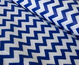 Ткань хлопок ЗигЗаг, 120г/м², 100% хлопок, шир.150см, цв.21 синий уп.3м