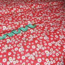 Ткань хлопок Ромашки, 125г/м², 100% хлопок, шир.150см, цв.04 красный