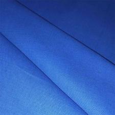 Ткань лён гладкокрашеный, 140г/м², 30% лен + 70% хлопок, шир.150см, цв.14 василёк уп.3м
