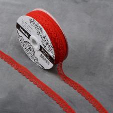 Кружево-трикотаж IDEAL, шир.12мм, цв.214 красный