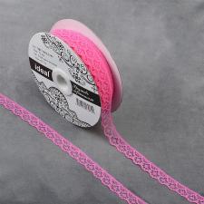 Кружево-трикотаж IDEAL, шир.12мм, цв.218А ярко-розовый