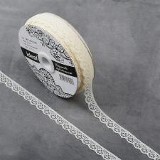 Кружево-трикотаж IDEAL, шир.12мм, цв.230 молочный