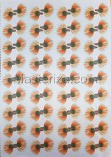 Заготовка для аппликаций на ткани (лепестки мака) ОАР-72-1,А3