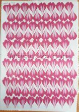 Заготовка для аппликаций на ткани (лепестки пиона) ОАР-80-8