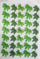 Заготовка для аппликаций на ткани (листья малины) ОАР-108,А3