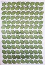 Заготовка для аппликаций на ткани (листья розы) ОАР-109-6,А3