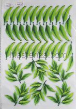 Заготовка для аппликаций на ткани (листья пиона) ОАР-117-1