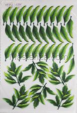 Заготовка для аппликаций на ткани (листья пиона) ОАР-117-2,А4