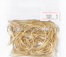 Канитель мягкая,1 мм,цвет №101 яркое золото