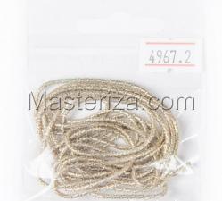 Канитель фигурная, бамбук,2 мм,цвет №4967 светло-золотистый
