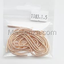 Канитель витая мягкая,спираль 1,5 мм,цвет №1183 розовое золото