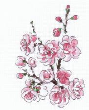 Риолис | Веточка сакуры. Размер - 13 х 16 см