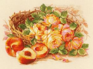 Риолис | Сочный персик. Размер - 40 х 30 см