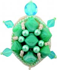 """Набор для изготовления броши Crystal Art """"Черепаха"""". Размер - 5 х 4,5 см"""