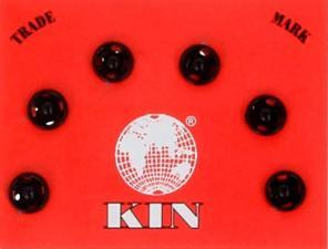"""Кнопки пришивные, металл, """"KOH-I-NOOR"""", d 5 мм, цвет чёрный, 6 шт"""