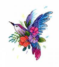 """ТМ Жар-птица Набор для вышивания на одежде """"Райская птичка"""". Размер - 9 х 11 см"""