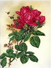 Астрея | Схема Розы и пчёлы. Размер - 30 х 40 см