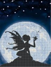 Астрея | Схема Ночная магия. Размер - 30 х 40 см