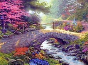 Астрея | Схема Каменный мостик. Размер - 40 х 30 см
