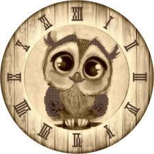 "Астрея | Схема Часы ""Сова"". Размер - 25 х 25 см"