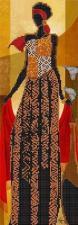 Астрея | Схема Африканский стиль 2. Размер - 14 х 40 см