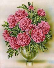 Астрея | Схема Розовые пионы. Размер - 30 х 38 см