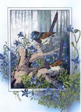 Астрея | Схема Весна в лесу. Размер - 28 х 40 см
