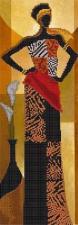 Астрея | Схема Африканский стиль 1. Размер - 14 х 40 см