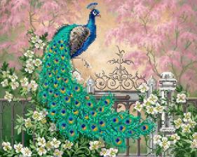 Картины бисером | Схема Райский сад. Размер - 35 х 28 см