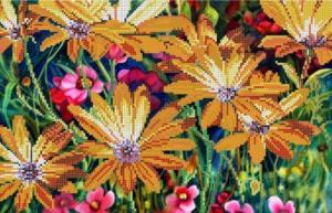Картины бисером | Схема Таинственное цветение. Размер - 36 х 23 см