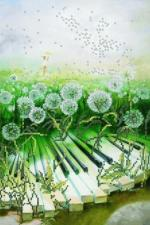 Картины бисером | Схема Музыка тишины. Размер - 23 х 35 см