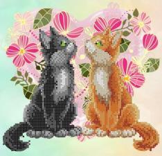 Картины бисером | Схема Счастливы вместе 2. Размер - 22 х 23 см