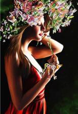 Картины бисером | Схема Ключи от счастья. Размер - 23 х 35 см