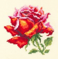 Чудесная игла | Красная роза. Размер - 11 х 11 см