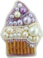"""Набор для изготовления броши Crystal Art """"Пирожное"""". Размер - 4,5 х 6 см"""