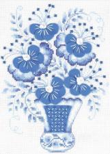 Риолис | Голубой букет. Размер - 18 х 24 см